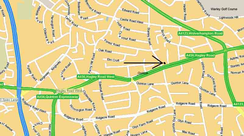 Map of 454 Hagley Road West